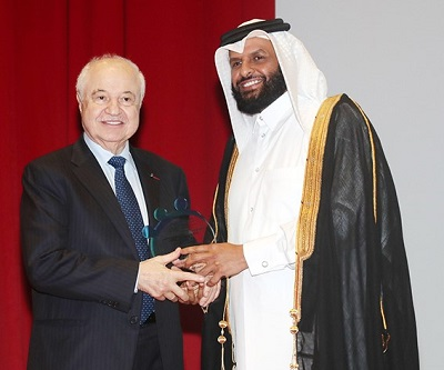 Abu-Ghazaleh Honored at the International Forum on Humanitarian Funds